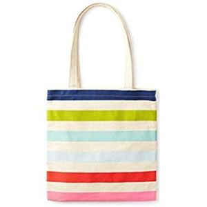 Kate Spade New York Canvas Book Tote -Candy Stripe